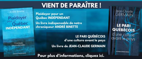 Publicité : Livres d'André Binette et de Jean-Claude Germain